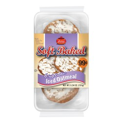 Carley's - PP $.99 - 12ct Soft Baked Cookies - ICED OATMEAL