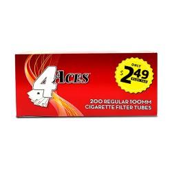 4 Aces Tubes - 100mm Regular 5/200ct  PP $2.49
