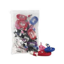IPHONE 5 USB WIRE ASSORTED COLOR 20 PER BAG